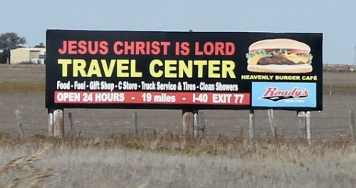 "A statement, or did they actually name their business ""Jesus Christ Is Lord""?"